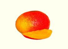 pokazywać pokrojonej kobiety owoc rżnięty owocowy mango Zdjęcie Stock