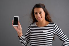 Pokazywać telefon komórkowego fotografia stock