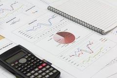 Pokazywać wyposażenie rynku gospodarczego plan pieniężnego Zdjęcia Stock