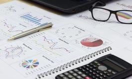 Pokazywać wyposażeniu biznesowego rynku kapitałowego plan obraz stock
