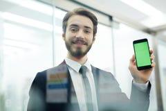 Pokazywać dane w smartphone Fotografia Stock