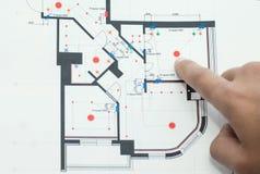 Pokazywać domów plany Obrazy Stock