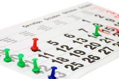 pokazywać dzisiaj kalendarzowa data Fotografia Royalty Free