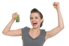 pokazywać kobiety z podnieceniem domowi klucze Zdjęcia Royalty Free