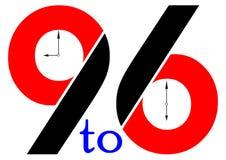 pokazywać target205_1_ zegarowe godzina Obrazy Royalty Free