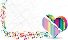 Poke banner. Colorful poke banner heart design Stock Images
