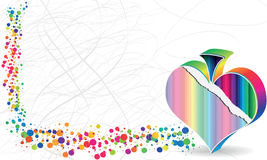 Poke banner. Colorful poke banner heart design Royalty Free Stock Photography
