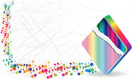 Poke banner. Colorful poke banner with rhombus Royalty Free Stock Images