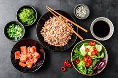 Poke bowl ingredients