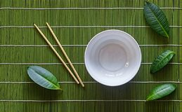 Poke bowl, japanese table setting, green, table, tropical, ceramic royalty free stock photography