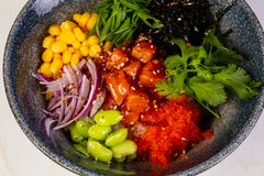 Poke with salmon Stock Images