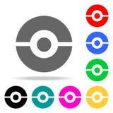 pokeball ikona Pokemon zbiornik Elementy w wielo- barwionych ikonach dla mobilnych pojęcia i sieci apps Ikony dla strona internet Obrazy Stock