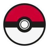 Pokeball logo isolated on white background. Royalty Free Stock Image