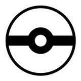 Pokeball logo som isoleras på vit bakgrund vektor illustrationer