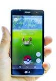 Pokemon在手上去比赛 Krabby 免版税库存照片