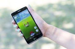 Pokemon在手上去比赛 Krabby 免版税库存图片