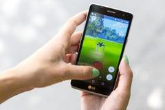 Pokemon在手上去比赛 Zubat 库存图片