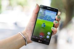 Pokemon在手上去比赛 Zubat 免版税图库摄影