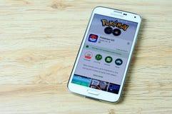 Pokemon在显示它的谷歌戏剧进来不是可利用的您的国家, 库存图片