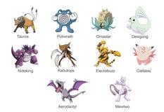 Pokemon ИДЕТ самое лучшее исключительное Pokemons Стоковое фото RF