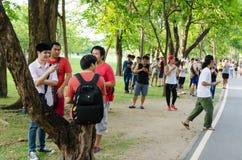 Pokemon идет лихорадка Таиланда Стоковая Фотография RF