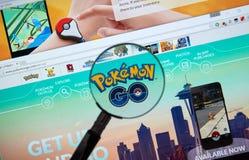 Pokemon идет домашняя страница стоковая фотография rf