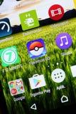 Pokemon идет app Стоковые Изображения