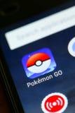 Pokemon идет app Стоковые Фото