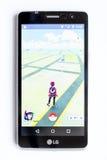 Pokemon去在白色的比赛 免版税库存图片