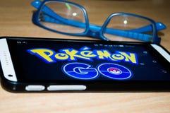 Pokemon去比赛 库存照片