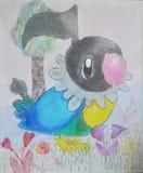 Pokemon, de tekening van het kleurenpotlood van jong geitje vector illustratie
