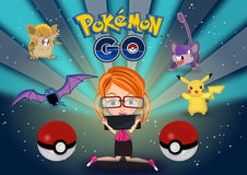 Pokemon disparaissent illustration stock