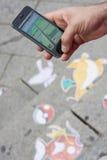 Pokemon entrent dans la ville Photo libre de droits