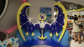 Pokemon figure at the entrance of the Pokemon Center store in Sunshine City shopping mall in Tokyo, Japan. Tokyo, Japan - August 2018: Pokemon figure at the stock photo