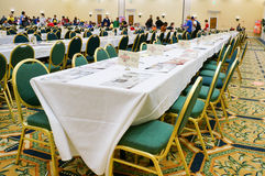 Pokemon Florida Regional tournament: playing table Royalty Free Stock Images