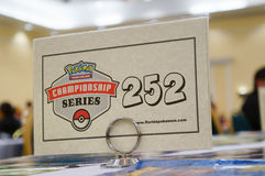 Pokemon Florida Regional tournament: table no Stock Photography