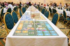 Pokemon Florida tournament: game desk Royalty Free Stock Photo