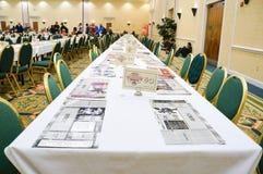 Pokemon Florida tournament: game table Royalty Free Stock Photography