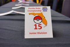 Pokemon Florida tournament: table Stock Photos