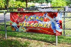 Pokemon Florida tournament: welcome. Pokemon Florida state tournament taken in orlando Stock Image