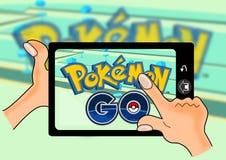 Pokemon går royaltyfri illustrationer