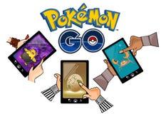 Pokemon går stock illustrationer