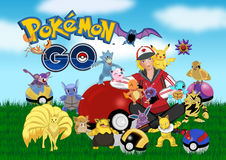 Pokemon går vektor illustrationer