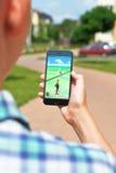 Pokemon går applikationen Arkivbilder