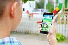 Pokemon går applikationen Royaltyfria Foton