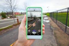 Pokemon GÅR att fånga för den andra utvecklingen Royaltyfria Bilder