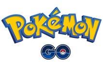 Pokemon går logoen stock illustrationer