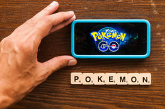 Pokemon gaat Stock Afbeelding