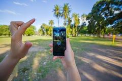 Pokemon gaat app Royalty-vrije Stock Foto's