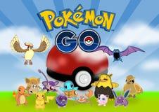 Pokemon gehen vektor abbildung